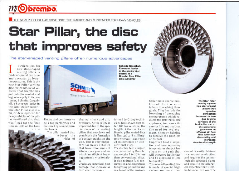 Brembo article on star pillar vented discs
